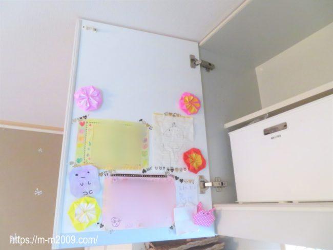 【子どもの作品】折り紙や絵を飾るなら扉の裏がおすすめです!その理由とは?