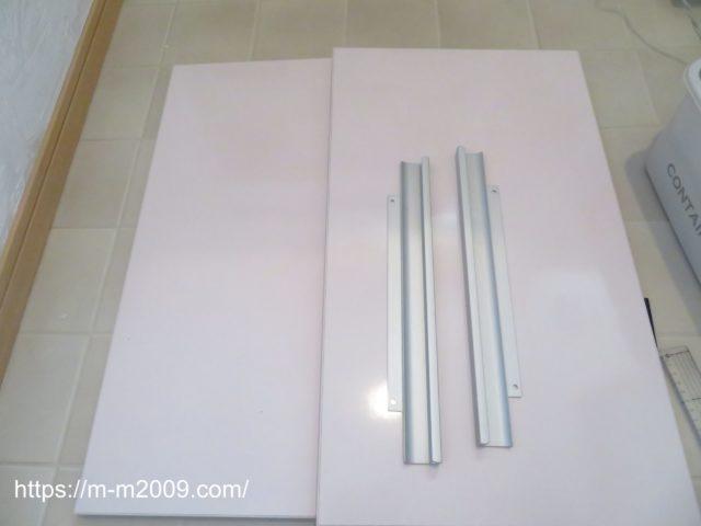 【DIY】洗面台の扉にリメイクシートを貼ってみた!【キレイに貼るコツ】
